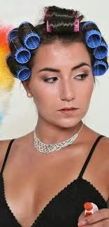 forced to wear hair rollers pin by nagamoni on rollers and net pinterest perm perm rods