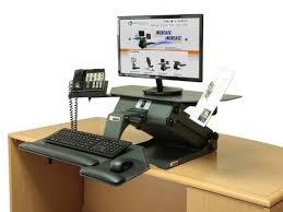 Standing Or Sitting Desk Ergonomic White Wooden Computer Desk Mixed Modern Black Tone