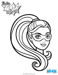 barbie super hero mask coloring pages hellokids com