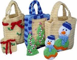 gift bags christmas christmas gift bags set 1 crochet pattern maggie s crochet