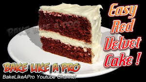 easy red velvet cake recipe youtube