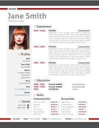 CV template collection       free templates in Microsoft Word format