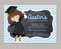 digital preschool kindergarten graduation invitation