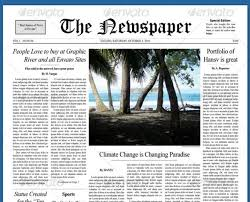 printable newspaper front page template psd indesign ainewspaper