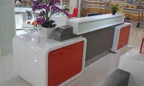 Salon Reception Desk Furniture Restaurant Bank Tanning Salon Glass Reception Desk Countertop