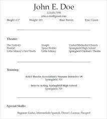 sle musical theatre resume theatrical resume template resume general resume summary exles photo music teacher format