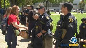 ann coulter protest uc berkeley police say 2 arrested abc7 com