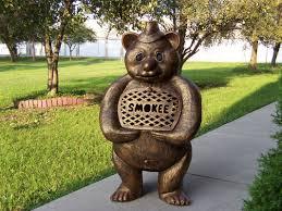 oakland living smokee bear aluminum wood burning chiminea