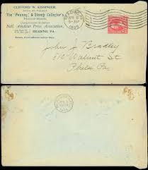 1895 clifford w kissinger pennsy u0026 stamp collector u0027s corner card