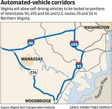 Virginia Area Code Map by Self Driving Cars To Be Tested On Virginia Highways News