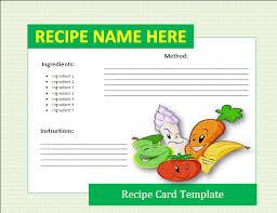 8 free recipe card templates itinerary template sample