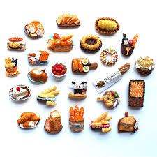 simulation 3d cuisine 3d fridge magnet bread food series decoration simulation of creative