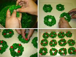 corn flake wreath hi cookery