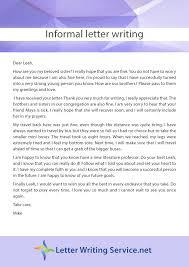 best service to choose for informal letter writing letter