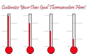 Goal Thermometer Template Flair Photo Thermometer For Fundraising Template