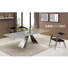arrow extendable dining table casabianca furniture modern manhattan