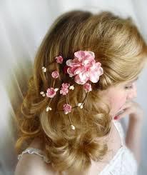 flower hair clip cherry blossom hair accessories pink flower hair clip bridal