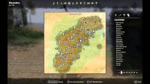Elder Scrolls Map Elder Scrolls Online Glenumbra Treasure Map I Location Youtube