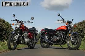 honda cb750 kawasaki z1 v honda cb750 classic motorbikes