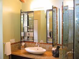 bathroom sink and medicine cabinet modern full bathroom with