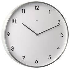 Futura Designer Wall Clock Brushed Aluminum Modern Wall - Modern designer wall clocks