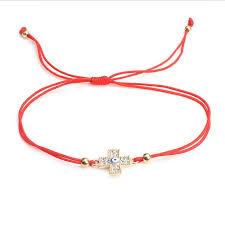 string red bracelet images Hand red string braided rope handmade bracelet nvntee jpg
