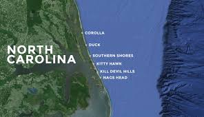 Map Of Outer Banks Nc Outer Banks Vacation Rentals Outer Banks Rentals Outer Banks Blue