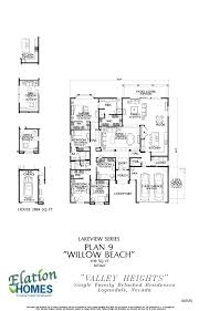 Willow Floor Plan by Valley Heights Estates Plan 9 Willow Beach