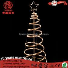 china led decorative 3d spiral rope tree light