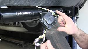 installation of a trailer wiring harness adapter on a 2013 dodge