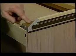 putting crown molding on kitchen cabinets cabinet crown molding youtube