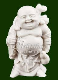 marble laughing buddha statue at rs 15000 laughing buddha
