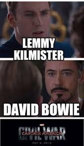 Bowie Meme - meme creator lemmy kilmister david bowie meme generator at