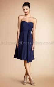 a line sweetheart navy blue chiffon short mini bridesmaid dresses