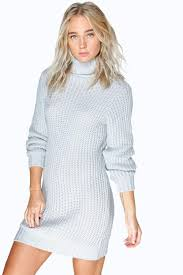 maisie roll neck soft knit jumper dress boohoo