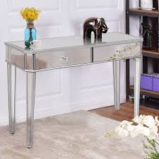 Mirrored Vanity Set Table Breathtaking Linon Harper Silver Mirrored Vanity Set