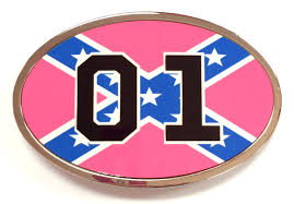 Confderate Flag Belt Buckle Confederate Flag 01 Pink Cooters