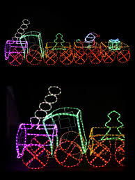 3d train with 3 carriages led light sillouette up to 5m