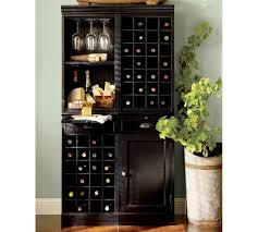 Modular Bar Cabinet Modular Bar System With 1 Wine Hutch 1 Open Hutch Pottery Barn