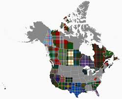 Map Of North America States by Tartan Map Of North America Album On Imgur