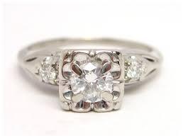 antique gold engagement rings vintage diamond 14k white gold engagement ring 1 2 cttw st
