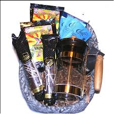 gourmet coffee gift baskets fair trade organic coffee gift basket with a press coffee