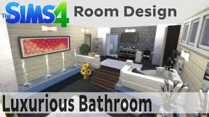 the sims 4 room design luxurious bathroom youtube
