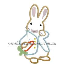 peter rabbit embroidery design applique u0026 filled easter