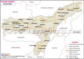 map on road assam road network map