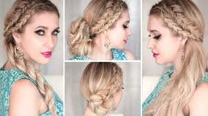 How To Make Hairstyles For Girls by 4 Cute And Easy Summer Hairstyles With Braids Everyday Prom
