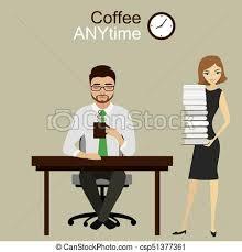 employé de bureau travail employé bureau apporté directeur papier lot clip