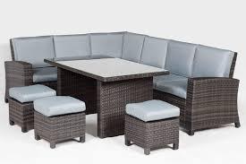 Grey Rattan Outdoor Furniture by Rattan Corner Sofa Dining Set Centerfieldbar Com