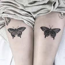25 badass thigh ideas for butterfly designs