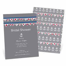Nautical Bridal Shower Invitations Nautical Invitations Show Their Stripes Pear Tree Blog
